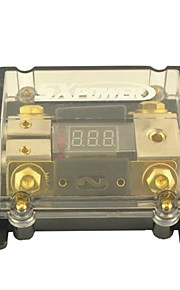 F203 Car Voltage Display 1 in 2 Out 100A Digital ANL Fuse Holder for Car Auto Audio Amplifier