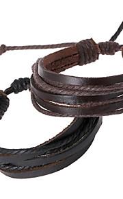 יוניסקס - צמידים - שרשרת ( עור )