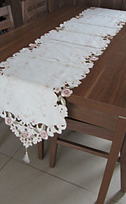 blancos manteles bordados rectángulo clásicos (tamaño: 40cmx220cm)
