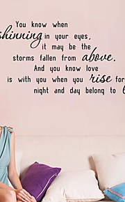 Wall Stickers Wall Decals , Love's Shinning English Proverbs  PVC Wall Stickers