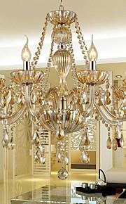 Chandelier Crystal Luxury Modern 1 Tiers Living 8 Lights