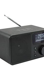 tavolo in legno dab tavolo FM radio digitale