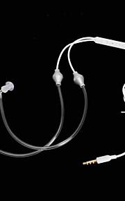 cwxuan ™ a2-35 3.5mm luchtslang anti-straling oortelefoon / microfoon voor de iPhone 6 / 5s samsung S4 / 5 htc en anderen