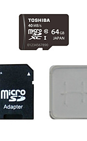 TOSHIBA 64GB Class10 40M/S Memory Card And The Memory Card And The Memory Card Adaptor Box