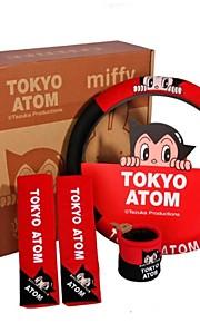 Astro Boy tegnefilm bil interiør dekoration sæt, bil rat dækning, etc 4stk / sæt