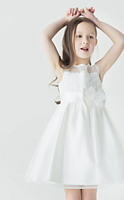 A-linja Tylli Flower Girl Dress - Hihaton - Lyhyt/Mini