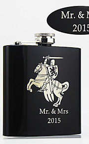 Personalized Black Stainless Steel Flasks 6-oz  Flask