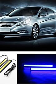 10st hry® 17cm 600-700lm dagrijverlichting bule kleur licht cob DRL waterdichte daglicht (12v)