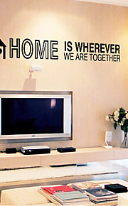 Wall Stickers Wall Decals, Home English Words & Quotes PVC Wall Stickers