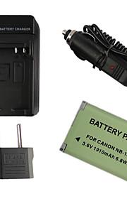 12l 1910mah camera batterij + eu plug + autolader voor canon G1X Mark II N100 mini x