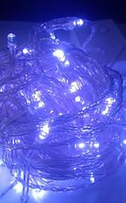4W 10 Meter lange 100pcs LED-String-Licht mit AC110-220V Eingang PVC transparent, Farbe blau