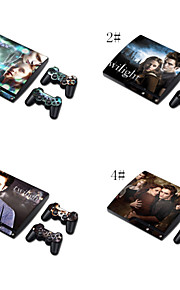 skin sticker vinyl sticker dekking voor PS3 Slim + 2 controllers