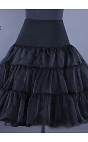Déshabillés ( Lycra/Organza , Blanc/Noir/Rouge/Ivoire ) - Robe trapèze - 2 - 70cm