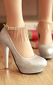 Women's Shoes Faux Leather Stiletto Heel Heels/Platform/Novelty/Closed Toe Pumps/Heels Wedding/Party & Evening/Dress