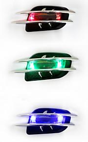 presa dell'automobile solare spia ABS auto universale adesivi styling cromo simulazione sfoga branchie di squalo decorativi