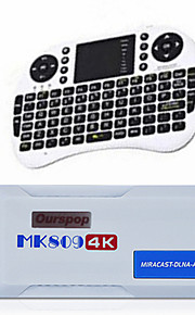 ourspop mk809 4k mini smart tv box stok android 4.4 quad core 2G / 8G + i8 lucht muis-Amerikaanse stekker (wit)