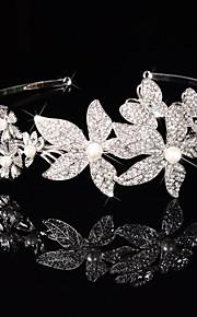 Femme Strass / Cristal / Laiton Casque-Mariage / Occasion spéciale Tiare 1 Pièce Clair Rond / Irrégulier 19cm