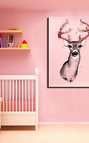 교수형 시각 star®pink 사슴 동물 캔버스 아트 인쇄 한 패널 높은 품질의 캔버스 준비
