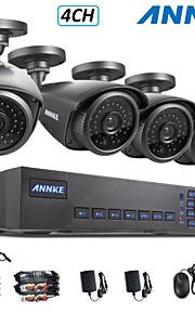 annke® 4ch ahd-l 960H dvr ecloud hdmi 1080p / VGA / BNC-uitgang 4 stuks 900tvl cmos 42leds dag / nacht ir-cut camera IP66