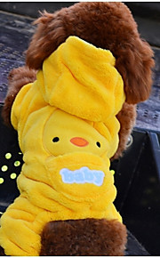 Amarillo - Boda/Cosplay - Algodón/Polar Fleece - Abrigos/Pantalones/Saco y Capucha - Perros/Gatos -