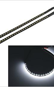 2 stuks carking ™ 1210-32smd-30cm 3.8w 125ml waterdichte auto decoratieve flitslamp strip- (DC 12V)