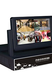 H.264 DVR/NVR System 4/8 Channel with 7 Inch LCD Screen