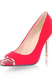Chaussures Femme - Mariage / Bureau & Travail / Habillé / Décontracté / Soirée & Evénement - Noir / Rouge - Talon Aiguille -Talons /