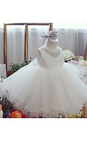 Vestido para Meninas das Flores - Baile Coquetel Sem Mangas Cetim/Tule
