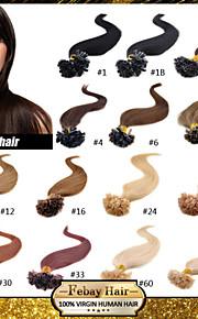 """бразильский девственные расширение человеческой кератина волос, предварительно связаны волосы ногтя Подсказка волосы 16 """"-24"""" 0,5 г / с"""