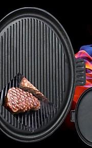 чугунная посуда Плита двойной горелки 2 стороны сковородка гриль кастрюлю