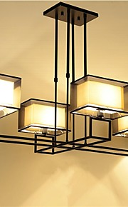 YL Chandeliers Ceiling Lights with 4 LED Bulbs Iron Frame Minimalist Style