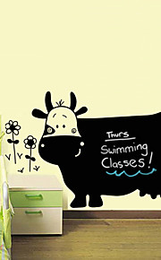 pvc vaca dos desenhos animados adesivos quadro-negro adesivos de parede