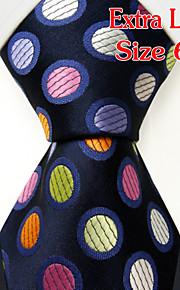 Men's Casual Dots Navy Blue Ties