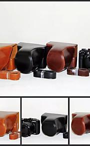 dengpin pu læder kamerataske taske dække med skulderrem til Canon PowerShot G3 x (assorterede farver)