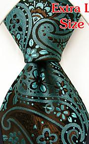 Men's Business Paisley Green Ties