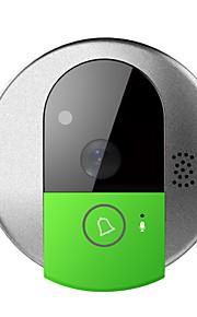 wifi video deurtelefoon intercom deurbel camera met mobiele apps, HD 720p en TF-kaart geheugen