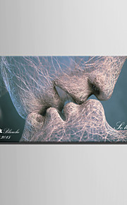 E-HOME® Personalized Signature Canvas invisible Frame Print-A Kiss