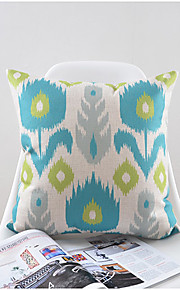 Stylish Flower Pattern Cotton/Linen Decorative Pillow Cover