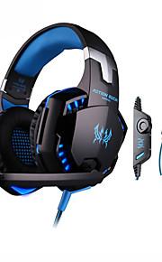 kotion hver G2000 gaming hovedtelefon kablet 3.5mm volumenkontrol med mikrofon til pc