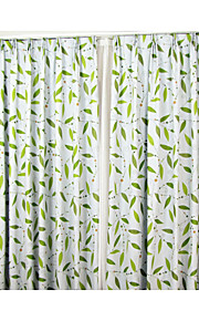 Two Panels European Contracted Fashion Design Leaves Flowers Shading The Sitting Room The Bedroom Curtains