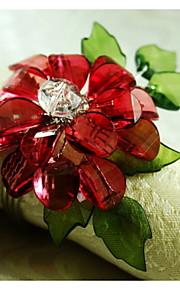 Хрустальный цветок украшение салфетки кольца, акрил, 1.77inch, набор 12