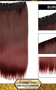Ombre клип в прямой наращивания волос синтетические парики бурга