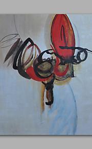 met de hand geschilderd olieverf op doek kunst aan de muur abstracte blauwe rode panel klaar te hangen
