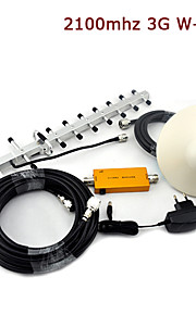 mini W-CDMA mobiele telefoon signaal booster 3G 2100MHz signaalversterker + plafond antenne + yagi antenne