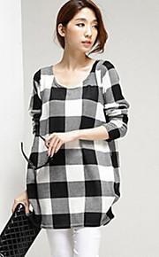 Maternity Round Neck T-shirt , Acrylic ¾ Sleeve
