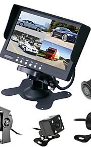 renepai® 7 inch 4 in 1 HD-monitor + bus 170 ° hd auto achteruitrijcamera waterdichte camera kabellengte 6m, 10m, 16m, 20m,