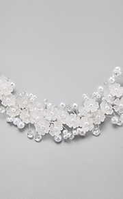 Women's/Flower Girl's Crystal/Alloy/Imitation Pearl Headpiece - Wedding/Special Occasion Flowers 1 Piece