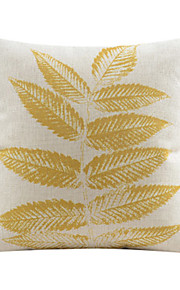 Country Leaf Pattern Cotton/Linen Decorative Pillow Cover
