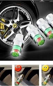 pneumatici auto protezioni del gambo della valvola con sensore di monitoraggio indicatore di pressione 4pcs avviso bici