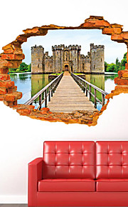 3D Wall Stickers Wall Decals Style Ancient Castle Fashion Personality Creativity PVC Wall Stickers